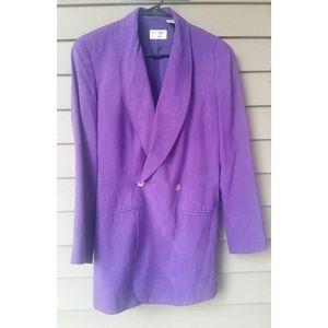 Purple Blazer w/Shoulder Pads and Tie Back